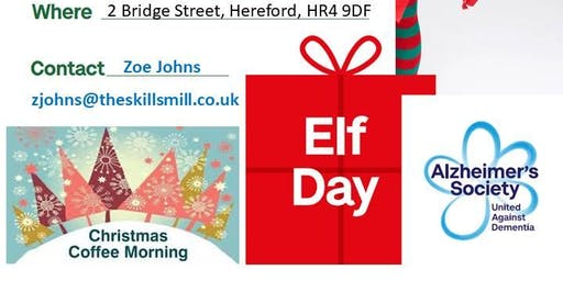 Elf Day Christmas Coffee Morning in aid of Altzeimers Society