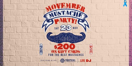 Movember mustache party tickets