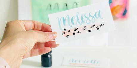 Basic Modern Brush Lettering & Watercolors tickets