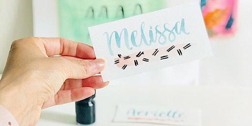 Basic Modern Brush Lettering & Watercolors