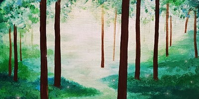 Enchanted Forest Painting Party at Brush & Cork