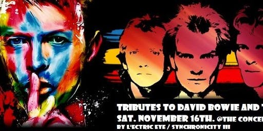 """David Bowie tribute """"L'ectric Eye"""" with Police tribute Synchronicity"""