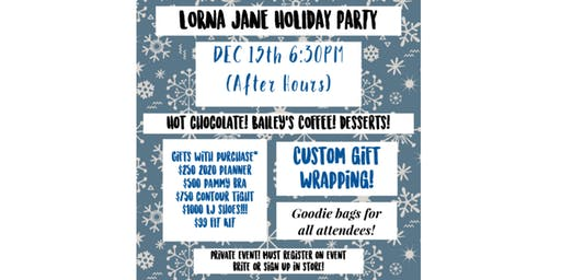 LORNA JANE HOLIDAY SHOPPING PARTY