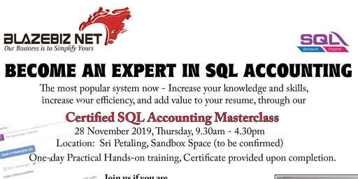 BUSINESS ACCOUNTING MASTERCLASS WITH SQL ACCT SYSTEM