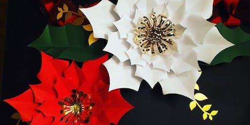 Giant Paper Poinsettia Workshop