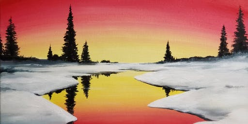 Winter Sunset Painting Party at Brush & Cork