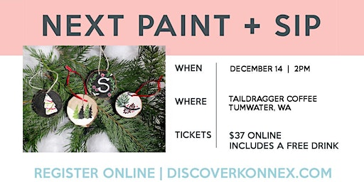 Christmas Ornament  Painting Class in Tumwater
