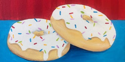 Kids & Grown-Ups Holiday Sprinkle Donuts Painting Party at Brush & Cork