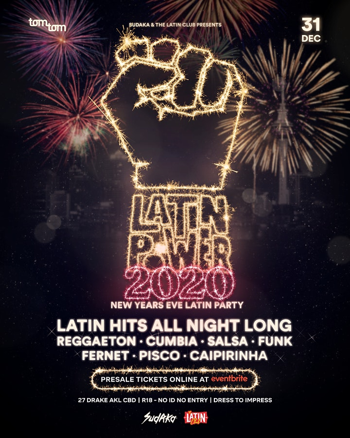 Latin Power NYE 2020 Rooftop Deck Latin Party image