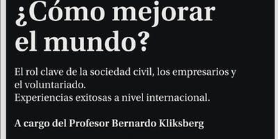 Conferencia Bernardo Kliksberg