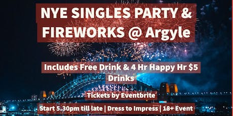 New Years Eve Singles Party & Fireworks tickets