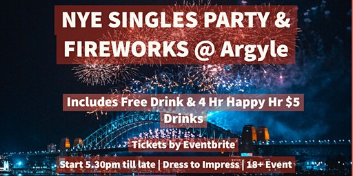 New Years Eve Singles Party & Fireworks