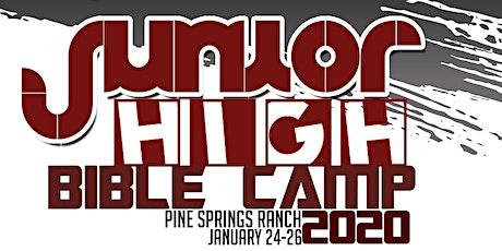 Jr. High Bible Camp 2020 tickets