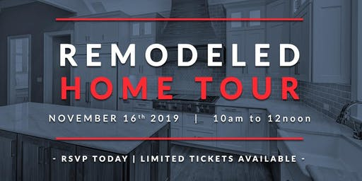 Exclusive Remodeled Home Tour   RSVP while spots remain