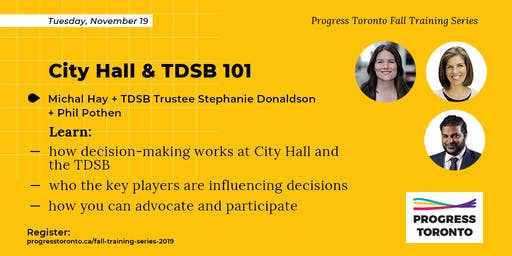 Fall Training Series: City Hall and TDSB 101
