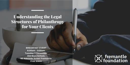 Breakfast event: Legal Structures of Philanthropy for Your Clients