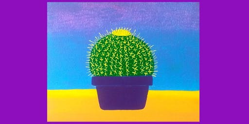 Fun GOLDEN BARREL CACTUS Painting Class! at HOURGLASS BREWING Curry Ford