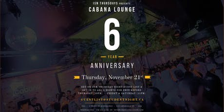 Cabana Lounge 6 Year Anniversary tickets