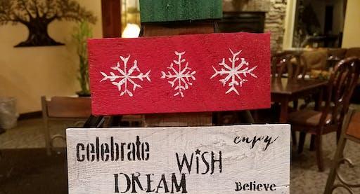 Christmas Tree Pallet Paint & Sip
