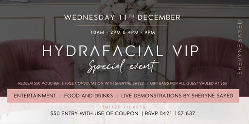 HydraFacial VIP Event with Sheryne Sayed