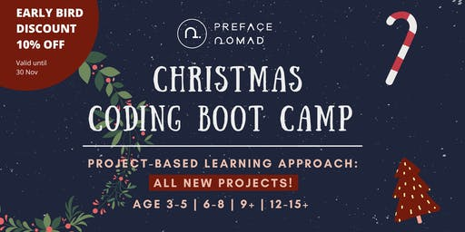 Christmas Coding Boot Camp for Kids - Age 3-5 | 6-8 | 9+ | 12-15+
