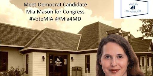 Meet Candidate for Congress Mia Mason at Peacocks: Fundraiser