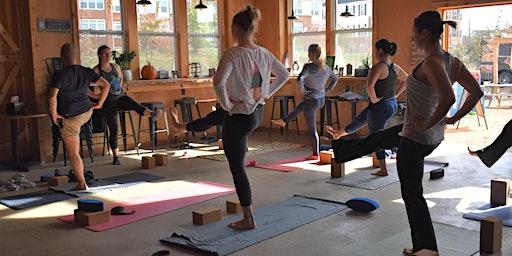 Yoga and Beer at Eavesdrop Brewery