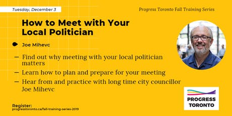 Fall Training Series: How to Meet with Your Local Politician tickets