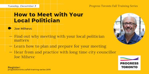 Fall Training Series: How to Meet with Your Local Politician