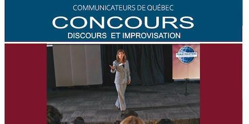CONCOURS DISCOURS ET IMPROVISATION - COMMUNICATEURS DE QUÉBEC