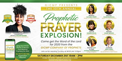 Prophetic Prayer Explosion   - WORD OF THE LORD FOR 2020 & BUSINESS LUNCH & LAUNCH MINI-INTENSIVE