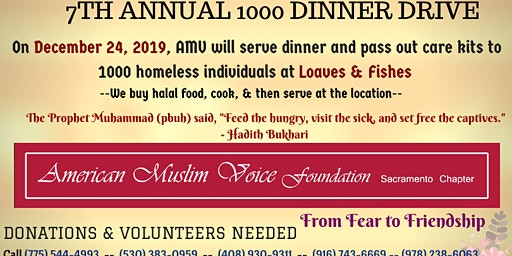 AMV Sacramento's 7th Annual Feed The Homeless Drive