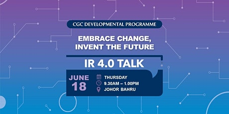IR 4.0 Talk @ Johor Bahru tickets