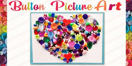 Button Picture Art - School Holiday Activity