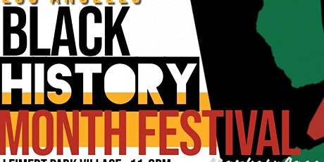 Los Angeles Black History Month Festival seeking Sponsors and Partners tickets