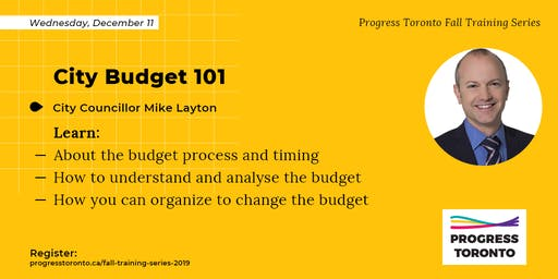 Fall Training Series: City Budget 101