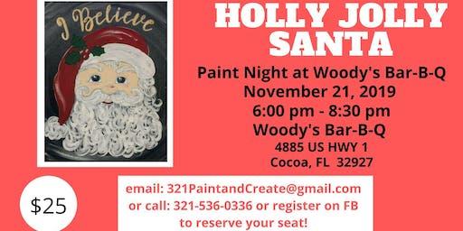 Holly Jolly Santa Paint Night
