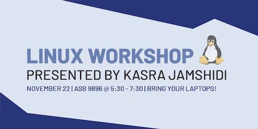 Linux Workshop with Kasra Jamshidi