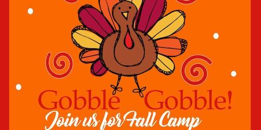 Thanksgiving Fall Camp