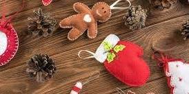 Making Christmas decorations using felt @ Burnie Library