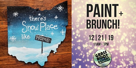 Snow Place Like Home | Paint + Brunch! tickets