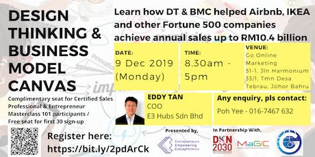 Design Thinking And Business Model Canvas Workshop (Johor Bahru) tickets