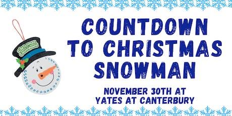 Christmas Countdown Snowman Craft tickets