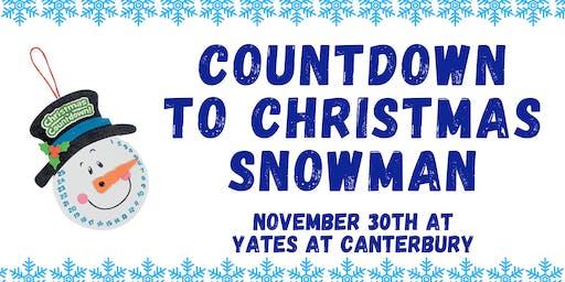 Christmas Countdown Snowman Craft