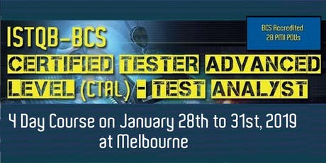 ISTQB-BCS Certified Tester Advanced Level (CTAL) – Test Analyst [4 Days] tickets