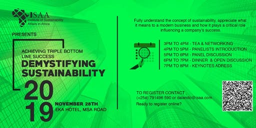 The Institute for Sustainability Affairs Africa Forum on Demystifying Sustainability