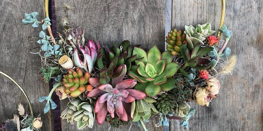 Succulent Wreath Making Class