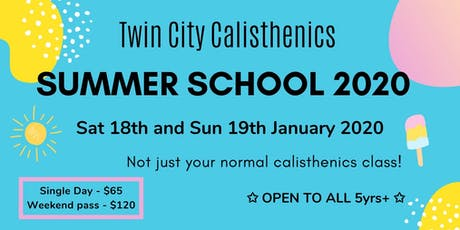 TCC Summer School 2020 tickets