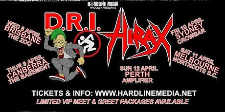 D.R.I. (USA) + HIRAX (USA) tickets