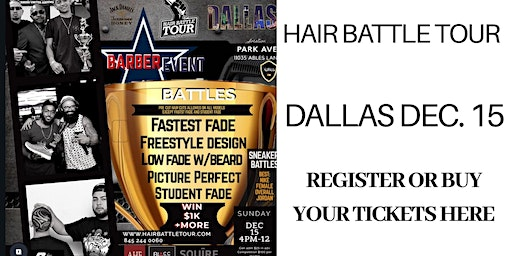 XOTICS HAIR BATTLE TOUR DALLAS DECEMBER 15, 2019